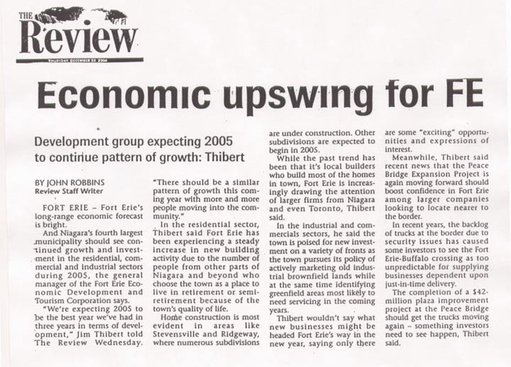 Economic Upswing Article