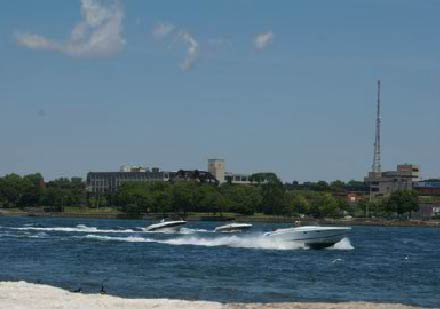 Boating on the mighty Niagara River